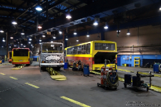 Jelcz 120MM/1 #9008, Ikarus 280.70E #5319 i Volvo 7000A #8072