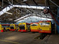 Jelcz M121M #9535, Jelcz M121M #9532, Volvo B10BLE 6x2 #8032 i Volvo B10BLE 6x2 #8036